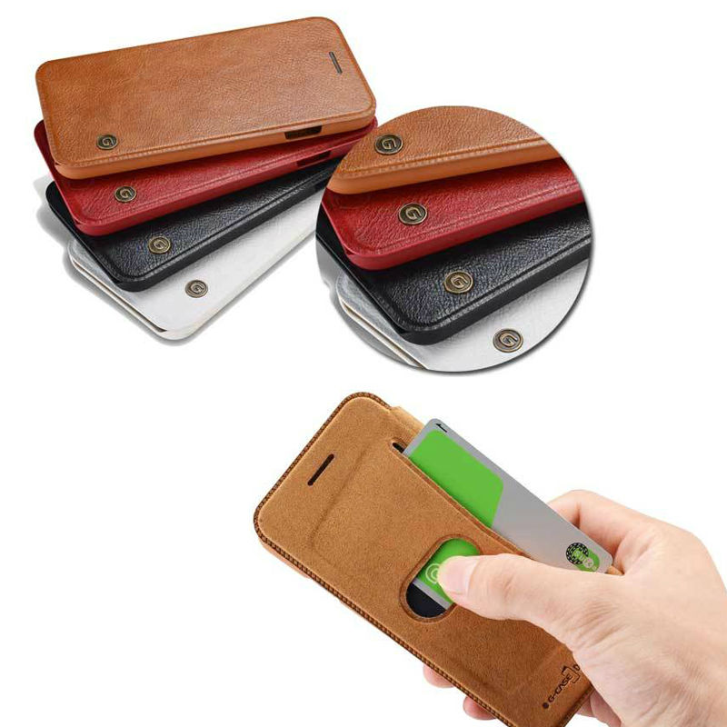Flip Leather Wallet Luxury Phone Case for iPhone 6 s 6s Plus 6Plus Brand Protective Cover Coque Capinha with Card Holder Slot