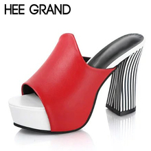 HEE GRAND Sexy Gladiator Sandals 2017 Platform High Heels Peep Toe Shoes Woman Summer Casual Pumps Fashion Slippers XWZ4176(China (Mainland))