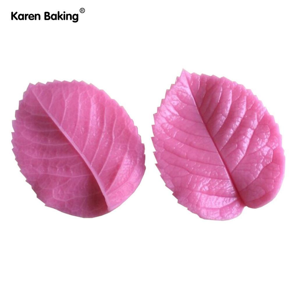 Leaf Press Mold Shaped Silicone Mold Cake Decoration Fondant Cake 3D Food Grade Silicone Mould C343(China (Mainland))