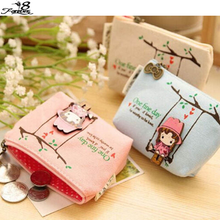 1pc small bag Ladies wallet mini women bag 2015 Children's gifts Unisex clutch Cartoon Cute girl coin purse(China (Mainland))