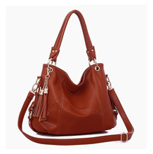 Brand new 2016 autumn winters genuine PU leather women handbags channel bag Women's Totes Fashionable tassel lady shoulder bags(China (Mainland))