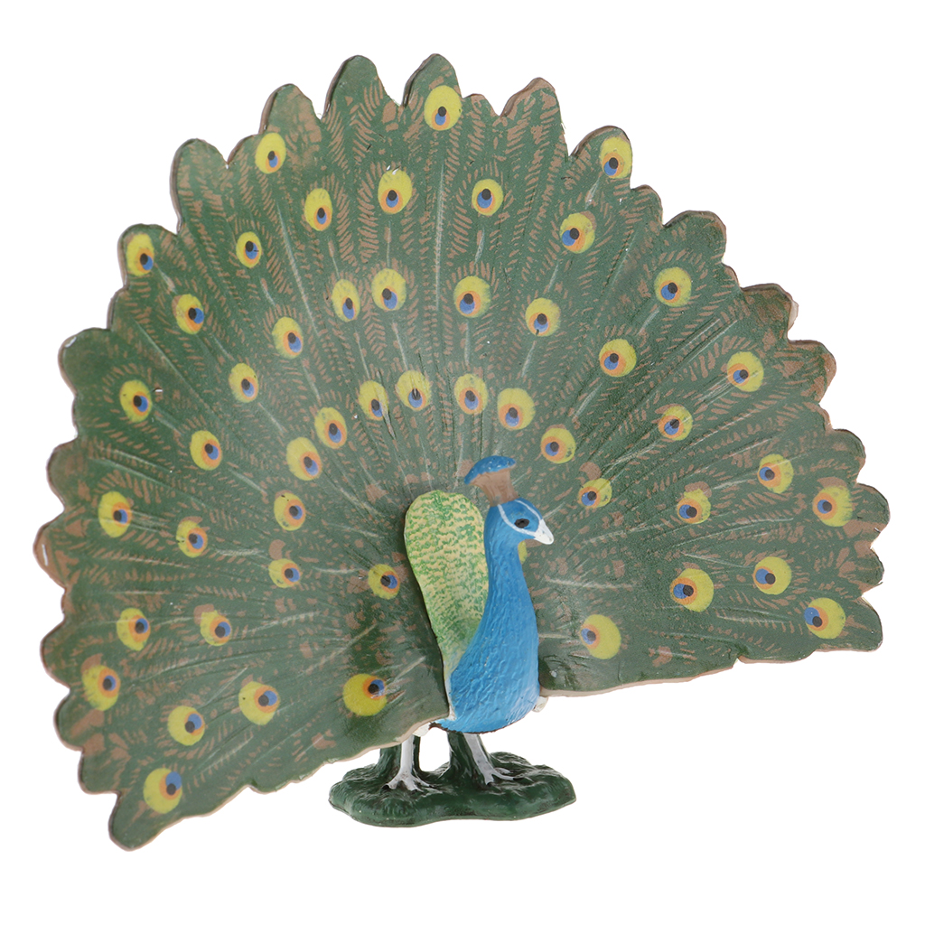 Figurines and Statues Peacock Ornaments Realistic for Lawn Garden Patio Decorative