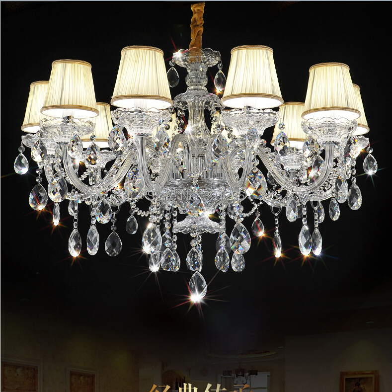 Fashion Top K9 Crystal Chandelier 10 Arms Chandeliers Living Room Lamps Lighting Modern Crystal
