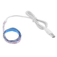 Buy 6 Colors! 5V 50CM USB Cable Power LED Strip Light Lamp SMD3528 LED Tape Christmas Festival Decorative TV Background Lighting for $1.60 in AliExpress store