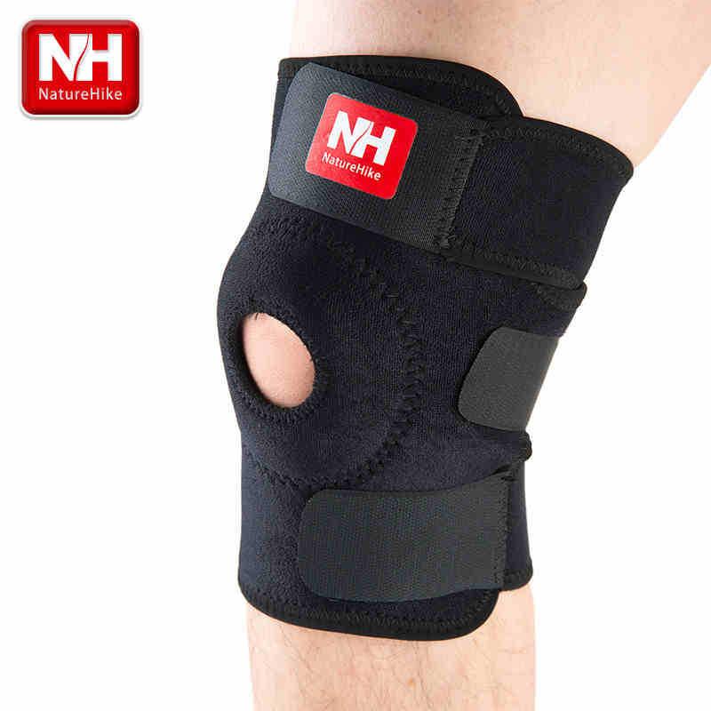 High quality fashion football basketball volleyball black durable knee shin protector guard pad pads kneepad -NatureHike(China (Mainland))