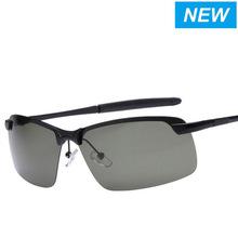 The new men's sports sunglasses polarized sunglasses driving glasses male half frame magnesium alloy fishing glasses
