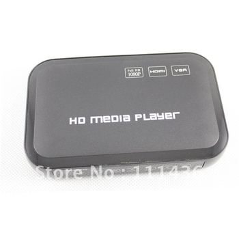 Full HD 1080P USB External HDD Media Player with HDMI VGA SD Support MKV H.264 RMVB WMV Free Shipping