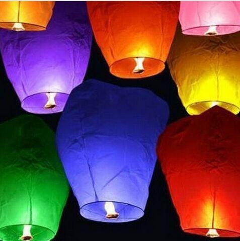 White Paper Chinese Sky Lanterns Wishing Lamp light Wedding Party Birthday Wedding Decoration(China (Mainland))