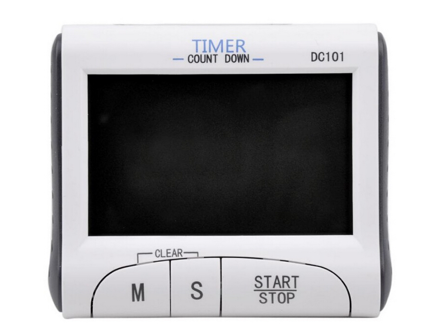 Hot Sale DC101 Large LCD Digital household Timer Count-Down Clock with Loud Alarm Portable desktop wall hanging(China (Mainland))