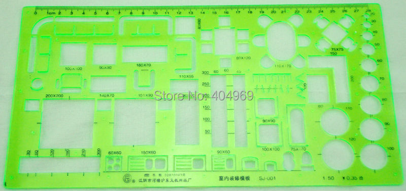 Matric 1 50 scale technical architectural drawing template - 1 4 scale furniture for interior design ...