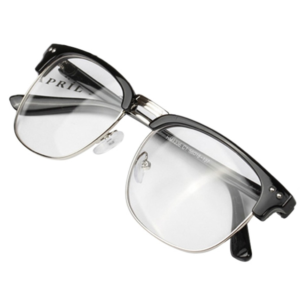 Unisex Hipster Vintage Retro Classic Half Frame Glasses ...