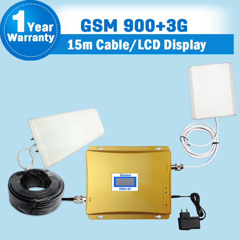 GSM 3G Amplifier LCD Display 65dB Gain GSM 900mhz 3G WCDMA 2100mhz Dual Band Booster Mobile Repeater Repetidor De Sinal Celular(China (Mainland))