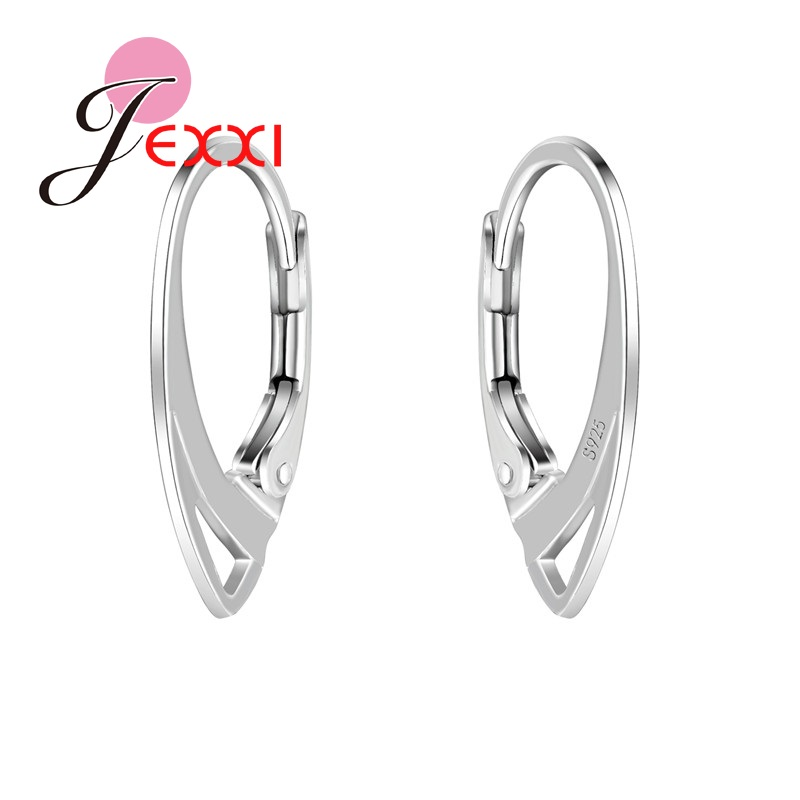 JEXXI 100 Pcs/ lot 925 Sterling Silver Hooks Coil Ear Wire Earrings Findings Jewelry Accessory DIY Earring free shipping(China (Mainland))
