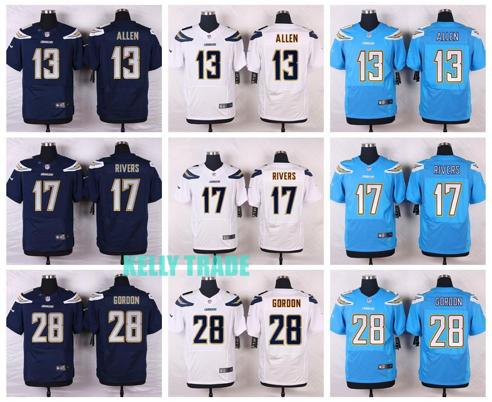 100% Stitiched,San Diego Chargers,#28 Melvin Gordon,#17 Philip Rivers,#13 Keenan Allen,customizable(China (Mainland))