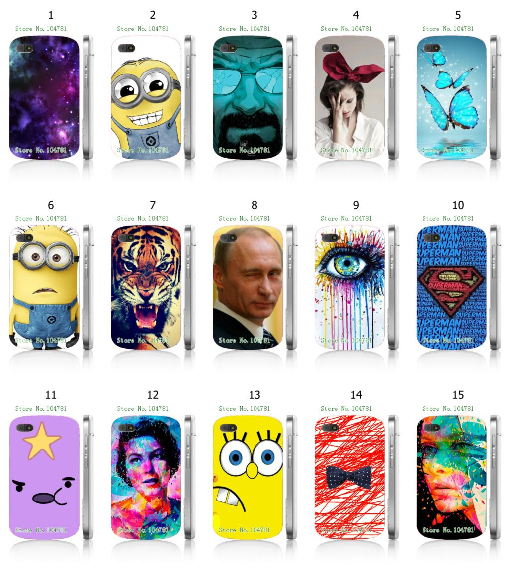 Hot 1pc tiger Minions Breaking Bad Hybrid Design Protective White Hard Mobile Phone Case cover For blackberry Q10 Free Shipping(China (Mainland))
