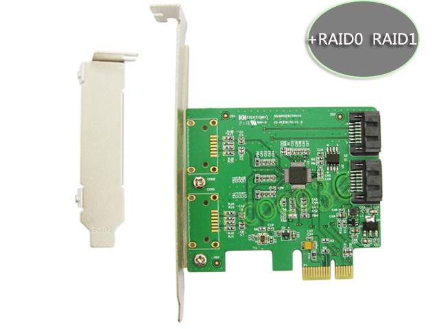 Marvell Chipset 2 Port SATA 6Gbps PCI Express Controller Card RAID 0 RAID1 + PCI-e to SATA 3.0 Support NCQ Port Multiplier FIS(China (Mainland))