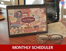 2015 new monthly / weekly daily planner , vintage appointment book scheduler one sheet stickers - K- INK store
