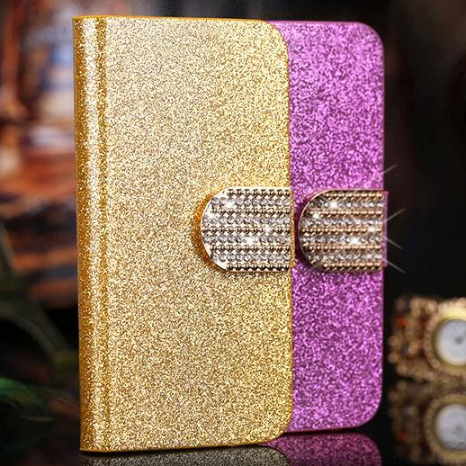 Luxury Wallet Bling Leather flip Case for Blackberry Q10 cell phone case back Cover with Stand Function 5 Colors in stock(China (Mainland))