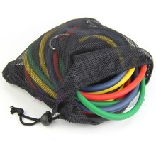 11pcs Black Elastic Rope Tensile Rope Workout Yoga Fitness Exercise Bands
