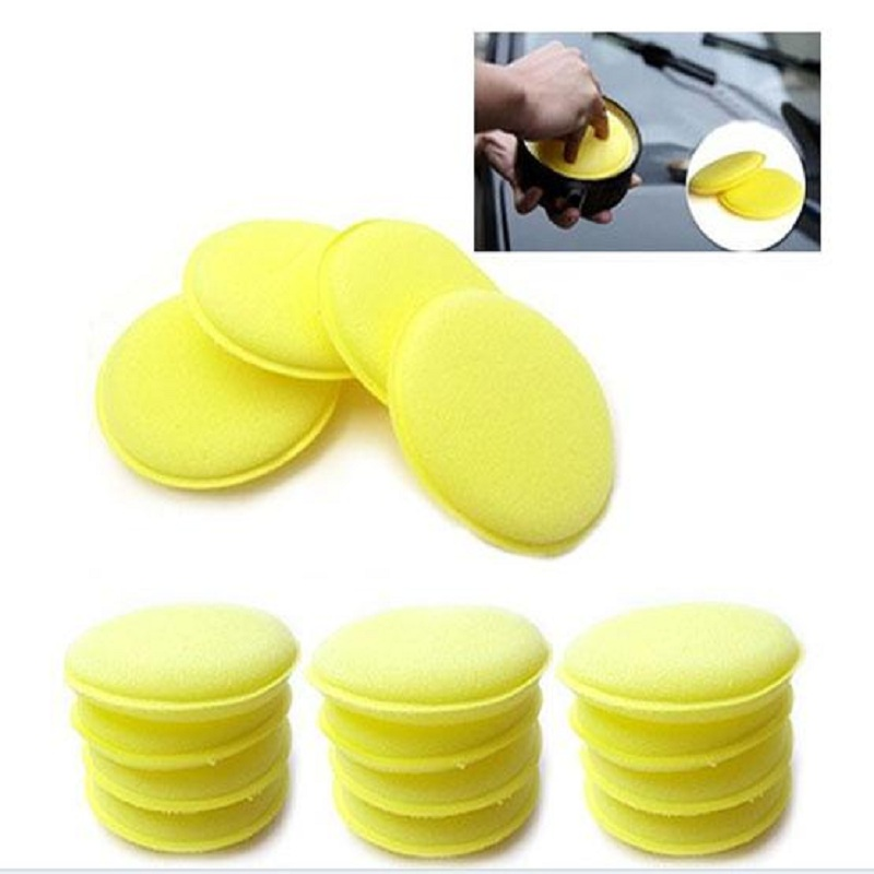 12Pcs Yellow Waxing Buffing Foam Sponge Applicator Pads For Clean Car Home High quality Polish Soft(China (Mainland))