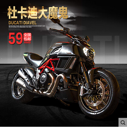 Diavel Duca ti Maisto 1:12 Simulation Alloy Motorcycle Model Locomotive car toys gift free shipping Classic cars Collection(China (Mainland))