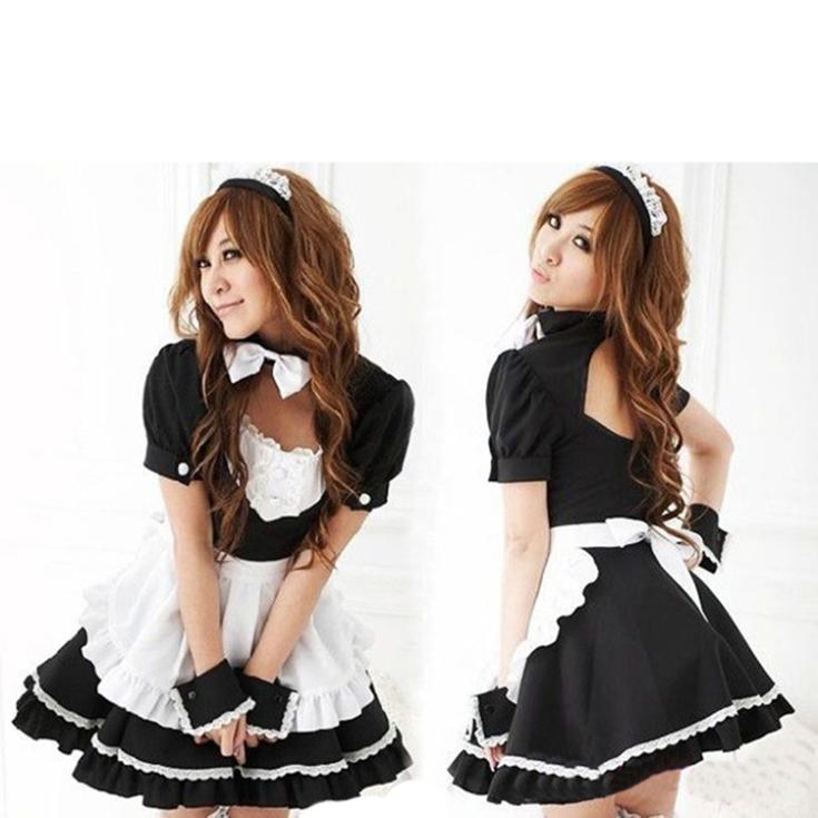 2014 New Novetly Women Costumes Dress/Brand Bowknot French Maid Costumes/Princess Women Clothing Cosplay Dress-in Clothing from Novelty & Special Use on Aliexpress.com | Alibaba Group
