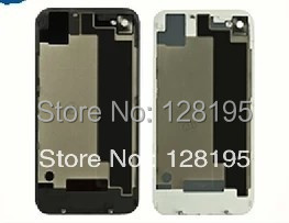original black white glass battery cover back replacement housing iphone 4 - Smartphone Repair Parts store