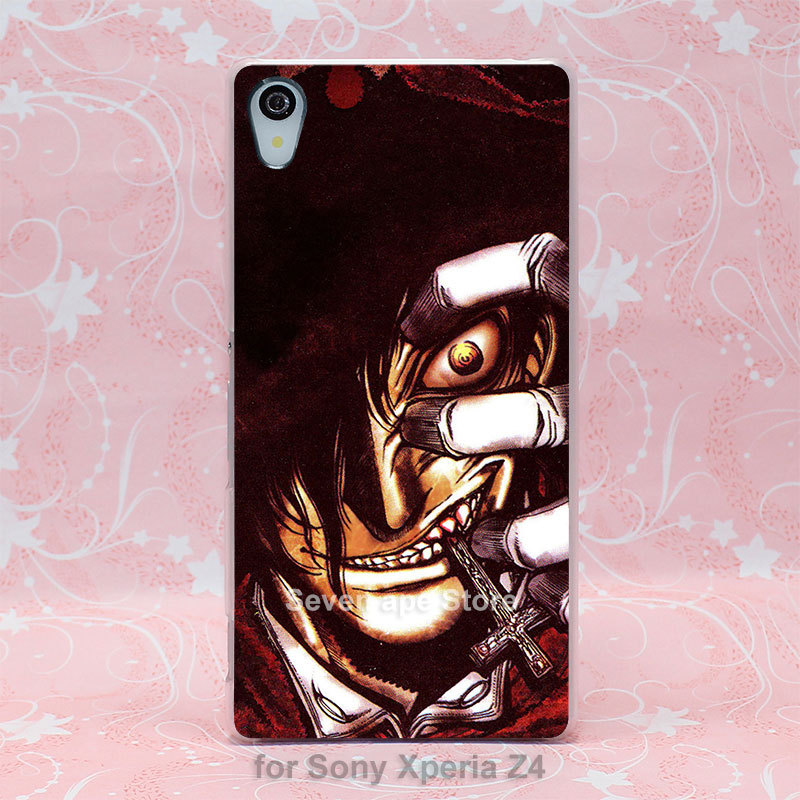 hellsing ultimate Pattern hard transparent clear case cover for Sony Xperia Z2 Z3 Z3+ Dual(China (Mainland))