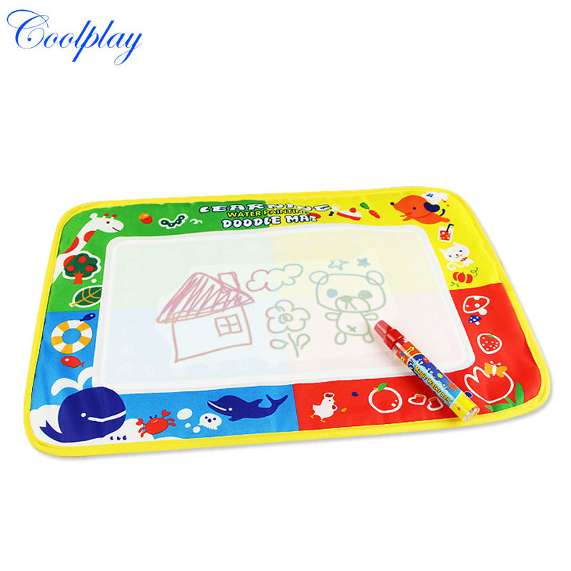 CP1322 46x30cm Kids Water Drawing Mat Aquadoodle Mat&1 Magic Pen/Water Drawing board/baby play mat(China (Mainland))