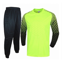 2016 Men's Soccer Goalkeeper Jersey Sponge Protector Suit Football Training Jersey GoalKeeper Jersey Uniforms Long Sleeve Sets(China (Mainland))