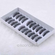 10 Pairs Hand Made Full Strip Fake False Eyelashes Natural Long Look Cotton Stem Beauty Health Makeup Tools Y50 MHM382