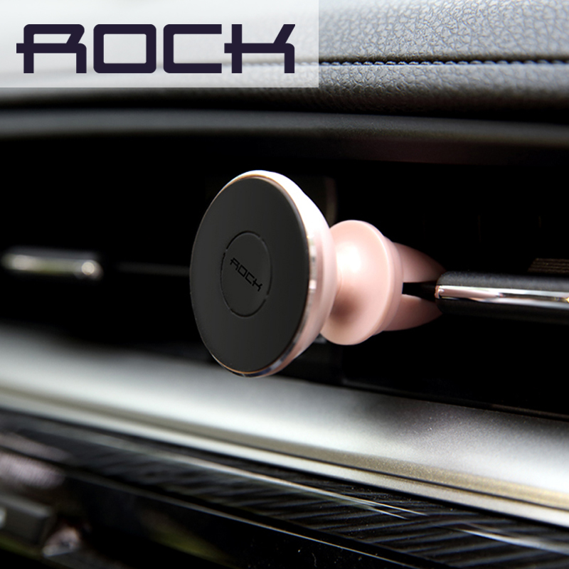 ROCK Magnet Car Holder Mini Air Vent Outlet Mount Magnetic Catche Phone Mobile Holder Universal For iphone Samsung Car Stand(China (Mainland))