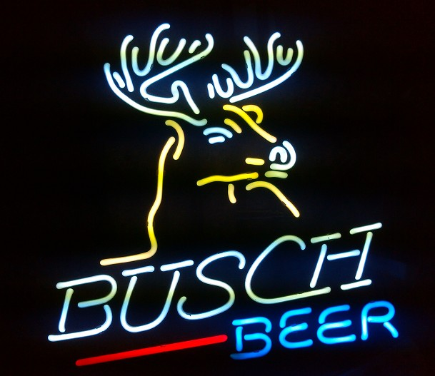 NEW DEER BUSCH BEE LIGHT SIZE: 17X14 GLASS NEON SIGN LIGHT BEER BAR PUB SIGN ARTS CRAFTS GIFTS SIGNS<br><br>Aliexpress