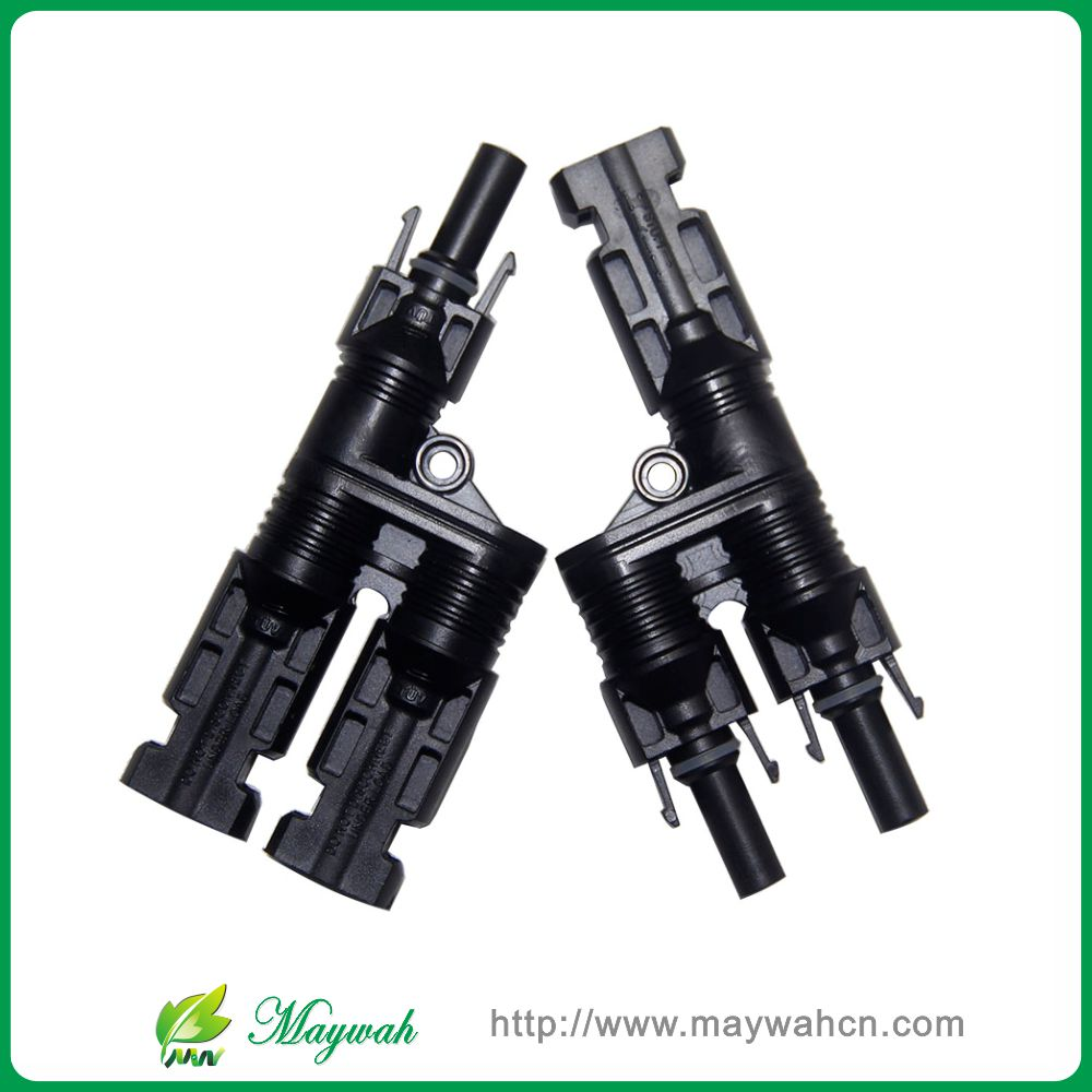 25 Years Warranty 50 Pairs H Type MC4 Style Branch Connectors With CE, TUV.Be Used Solar Generator System,Fedex Free Shipping(China (Mainland))