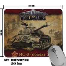 High Quality DIY World of Tanks NC-3 Pattern Comfort Anti-Slip Rectangle Pad for Optical Gamer Mouse Mat(China (Mainland))