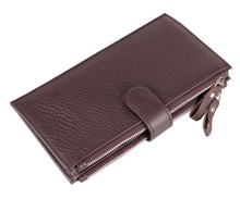 Real Genuine Leather Men Wallets Card holder Coin Purse Men s Long Zipper Wallet Leather Clutch