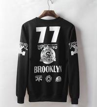 2015 boy Autumn Letter print brooklyn sweatshirt HIPHOP pullover thrasher hip hop hoodie Women long-sleeve suit Tide Men sports(China (Mainland))