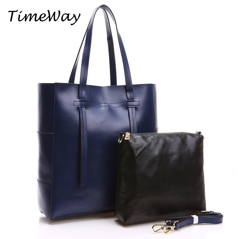 2016 Women Genuine Leather Handbags Famous Brand Designer Shoulder Bags European Big Casual Tote Bags High Quality Real Leather(China (Mainland))