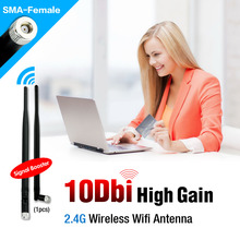 2.4G 10dBi Wireless Wifi Antenna Booster WLAN RP-SMA For Router USB Modem Wireless PCI Card(China (Mainland))