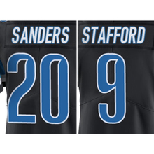 #9 Matthew Stafford #20 Barry Sanders Black Color Rush Limited(China (Mainland))