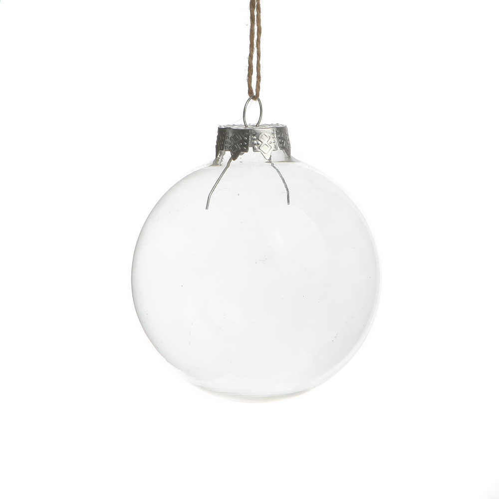 Christmas ornaments clear glass balls party event decor