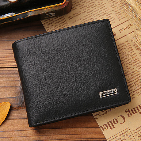 2016 vintage Men wallets genuine leather purse short casual male card holder carteira brand wallet(China (Mainland))