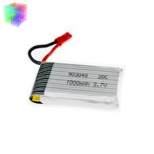20pcs H11D 3.7v Lipo battery 1000mah JST batteries for JJRC H11C HQ898 rc Quadcopter drone Part wholesale