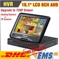 Upgraded 720P Output 10 1 Inch LCD CCTV 8CH DVR HVR NVR AHD All in One