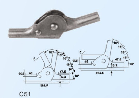 180 degree sofa hinges with 3 to 5 gears