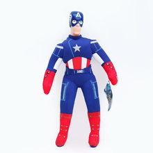 2018 Estilos Muti Marvel Avengers Figuras de Ação Brinquedo de Pelúcia macia/DC Super-heróis/Brinquedos Woody 3 Avengers Plush Macio boneca(China)