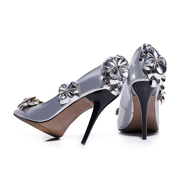 2015 summer new pointded toe high hells flowers solid color high-heeled shoes breathable and comfortable shoes for women D988(China (Mainland))