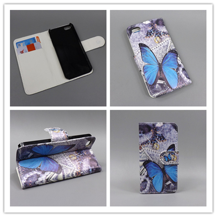 for iPhone 5S Case iPhone SE 5SE New Butterfly Flower Flag Designer Wallet Flip Stand Book Cover Case for iPhone 5S iPhone 5(China (Mainland))