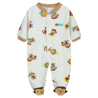 Гаджет  2014 Autumn Winter Lovely Animal Pattern Baby Romper Cotton Infant Baby One-piece Long Sleeve Jumpsuit Free Shipping None Детские товары
