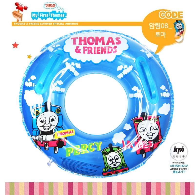 Thomas thomas child inflatable swim ring infant swim ring with handle traction rope(China (Mainland))